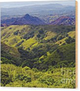 Costa Rica Mountains Wood Print