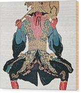Costume Design For A Chinaman Wood Print