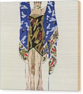 Costume Design For A Dancing Girl Wood Print