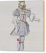 Costume Design For Geometry In A 17th Wood Print