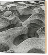 Cot Rocks Wood Print