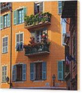 Cote D'azur Alley Wood Print