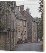 Cotswold Cottages Wood Print