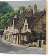 Cotswold Street Wood Print