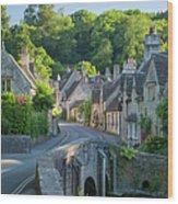 Cotswold Village Wood Print