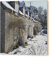 Cotswolds Cottages In Winter  Wood Print