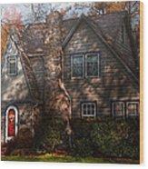 Cottage - Cranford Nj - Autumn Cottage  Wood Print