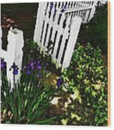 Cottage Entry  Wood Print