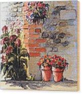 Cottage Garden  Wood Print
