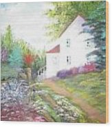 Cottage Gardens Wood Print