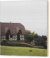 Cottage In Normandy Wood Print
