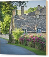 Cottage In The Cotswolds Wood Print