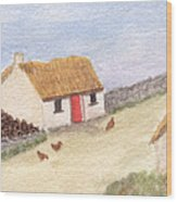 Cottage In The West Wood Print