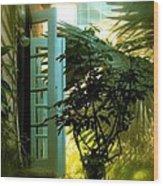 Cottage Memories Wood Print by Claudette Bujold-Poirier