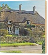 Cottage Of The Cotswolds Wood Print