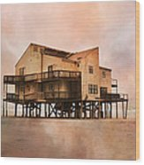 Cottage Of The Past Wood Print by Betsy Knapp