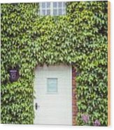 Cottage With Ivy Wood Print