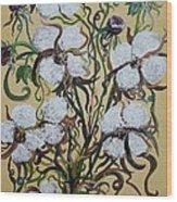 Cotton #2 - Cotton Bolls Wood Print