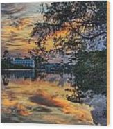 Cotton Bayou Sunrise Wood Print