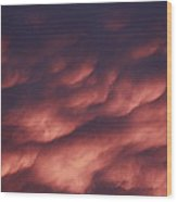 Cotton Candy Clouds Wood Print