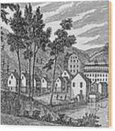 Cotton Factory Village, Glastenbury, From Connecticut Historical Collections, By John Warner Wood Print