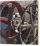 Cotton Gin Gears Wood Print