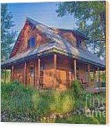 Cottonwood Cottage  Wood Print
