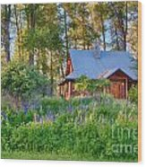 Cottonwood Cottage Spring 2014 Photographs Taken By Omaste Witko Wood Print