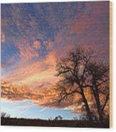 Cottonwood Sky Wood Print