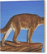 Cougar Cliff Wood Print