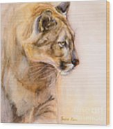 Cougar On The Prowl Wood Print