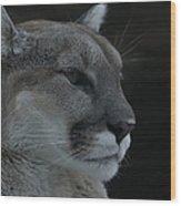 Cougar Profile Wood Print
