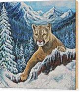 Cougar Sedona Red Rocks  Wood Print