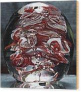 Cougar Spirit Glass Wood Print