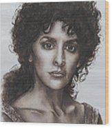counselor Deanna Troi Star Trek TNG Wood Print by Giulia Riva