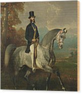 Count Alfred De Montgomery 1810-91 1850-60 Oil On Canvas Wood Print