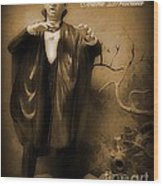 Count Dracula In Sepia Wood Print