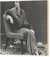 Countess Celani Lepri Wearing A Velvet Dress Wood Print