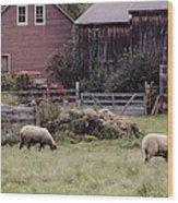 Counting Sheep Wood Print