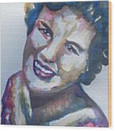 Country Artist Patsy Cline Wood Print