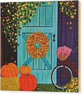 Country Autumn Wood Print