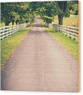 Country Back Roads Wood Print