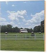 Country Barn And Hay Wood Print