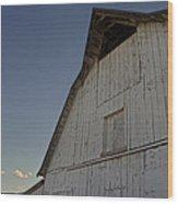 Country Barn And Mt Ashland Wood Print