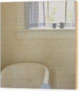 Country Bath Wood Print