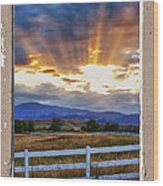 Country Beams Of Light Pealing Picture Window Frame Vie Wood Print