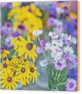 Country Blooms Wood Print