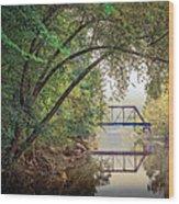 Country Bridge Wood Print by William Schmid