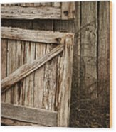 Country Charm Wood Print by Amy Weiss
