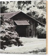 Country Charm In Dramatci Bw Wood Print